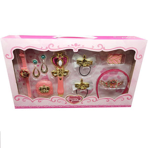 Princess Jewelry Beauty Accessories and Wand Set with Lights and Sounds