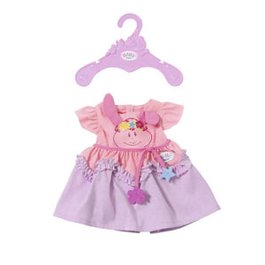 Baby Born Dress Collection Dolls Clothes Set - Purple and Pink Dress