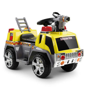 Kids Electric Ride On Fire Truck in Yellow