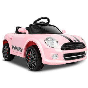 Mini Cooper Inspired Kids Electric Ride On Car in Pink