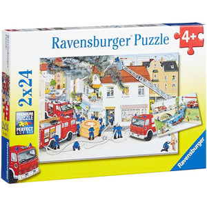 Ravensburger Busy Fire Brigade Puzzle - 2 x 24 Piece