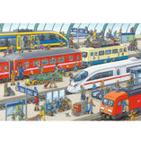 Ravensburger Ravensburger Busy Train Station Kids Puzzle - 2 x 24 Piece - Buy Online