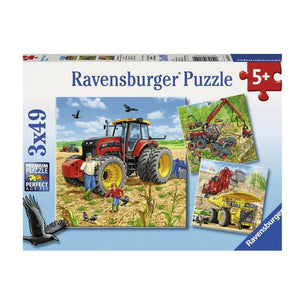 Ravensburger Giant Vehicles Puzzle - 3 x 49 Piece