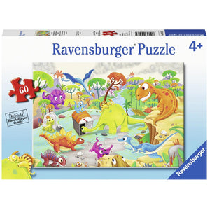 Ravensburger Jigsaw Puzzle Time Traveling Dinos - 60 Piece