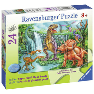 Ravensburger Supersize Floor Puzzle 24-piece Dino Falls