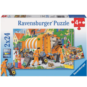 Ravensburger Trash Removal Puzzle - 2 x 24 Piece