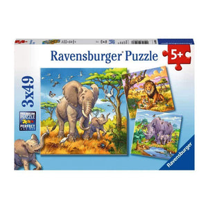 Ravensburger Wild Animals Puzzle - 3 x 49 Piece