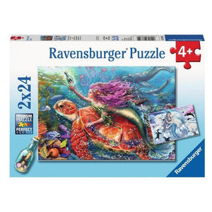 Ravensburger Mermaid Adventures 2x24 Piece Jigsaw Puzzle