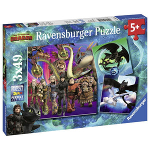 Ravensburger How to Train Your Dragon Jigsaw Puzzle - 3 x 49 Piece