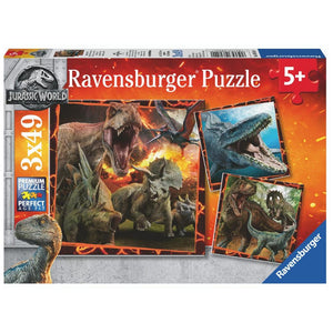 Ravensburger Jurassic World Jigsaw Puzzle - 3 x 49 Piece