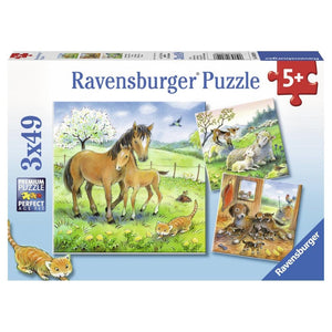 Ravensburger Cuddle Time 3x49 Piece Jigsaw Puzzle