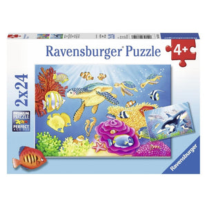 Ravensburger Colourful Underwater World 2x24-piece Jigsaw Puzzle