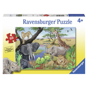 Ravensburger Safari Animals 60-Piece Jigsaw Puzzle