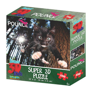 Super 3D Pounce Snookums 150pc Children's Puzzle