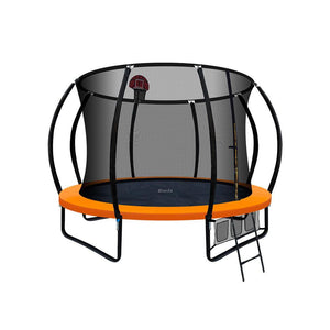 Everfit 10ft Spring Trampoline With Basketball Hoop - Orange