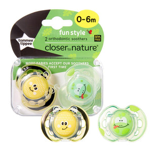 Tommee Tippee Fun Soother 2 Pack - Girl - 0 to 6 Months