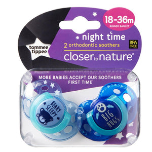 Tommee Tippee Closer to Nature 18 to 36 months Night Time Soother - Boy