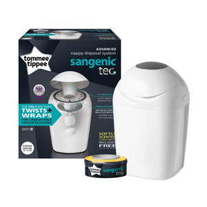 Tommee Tippee Sangenic Nappy Bin  in White with 1 Refill