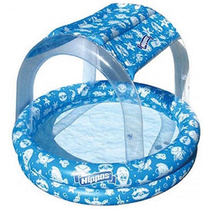 Wahu Nippas Pool with Canopy in Blue
