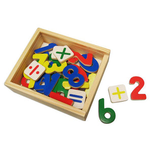 Wooden Number Magnets Box of 37