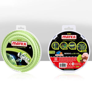 Zuru Mayka Toy Block Tape - 2 Stud Glow in the Dark