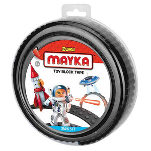 Zuru Mayka Toy Block Tape - 2 Stud Black