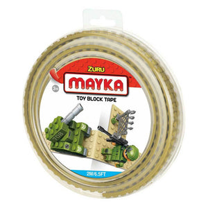 Zuru Mayka Toy Block Tape - 2 Stud Tan