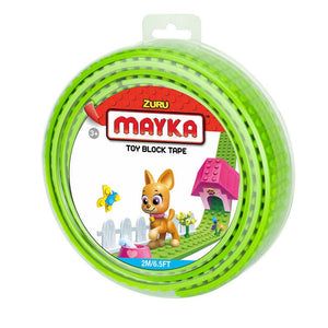 Zuru Mayka Toy Block Tape - 4 Stud Light Green