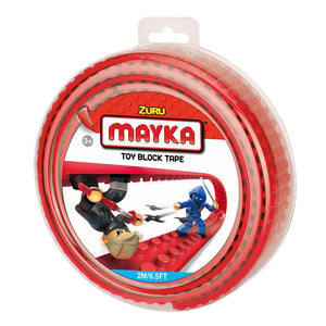 Zuru Mayka Toy Block Tape - 4 Stud Red