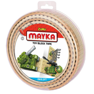 Zuru Mayka Toy Block Tape - 4 Stud Tan
