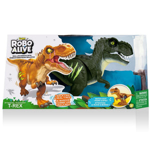 Zuru's Robo Alive Attacking T-Rex Green