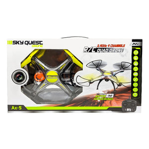 AeroQuest Storm Bringer Remote Control Drone in Yellow