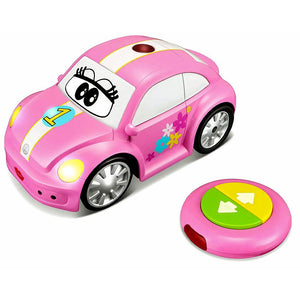 Bburago Junior Volkswagen Easy Play Remote Control Beetle Pink