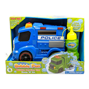 Bubble Fun Bump N' Go Bubble Police Car