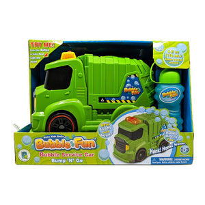 Bubble Fun Bump N' Go Garbage Truck