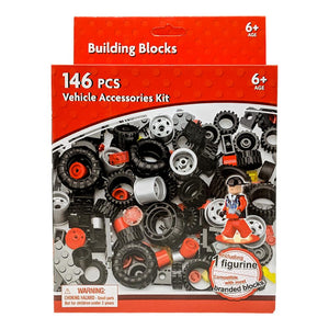 Building Blocks Vehicle and Wheel Set - 146 Piece