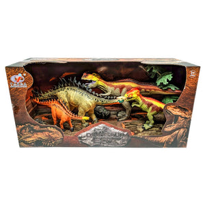 Dinosaur Figure Set with T-Rex and Spinosaurus - 4 Piece Set