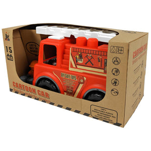 Eco Toys Fire Engine Truck with 15 Blocks