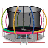 Fun Stuff Everfit 10FT Multi-Coloured Round Trampoline With Basketball Hoop - Buy Online