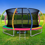 Fun Stuff Everfit 12FT Round Trampoline with Basketball Hoop Multi-Coloured Pad - Buy Online