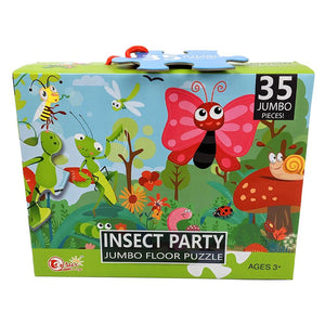 Jumbo Floor Puzzle 35 Piece - Insect Party