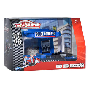 Majorette Creatix Police Station with Diecast Car