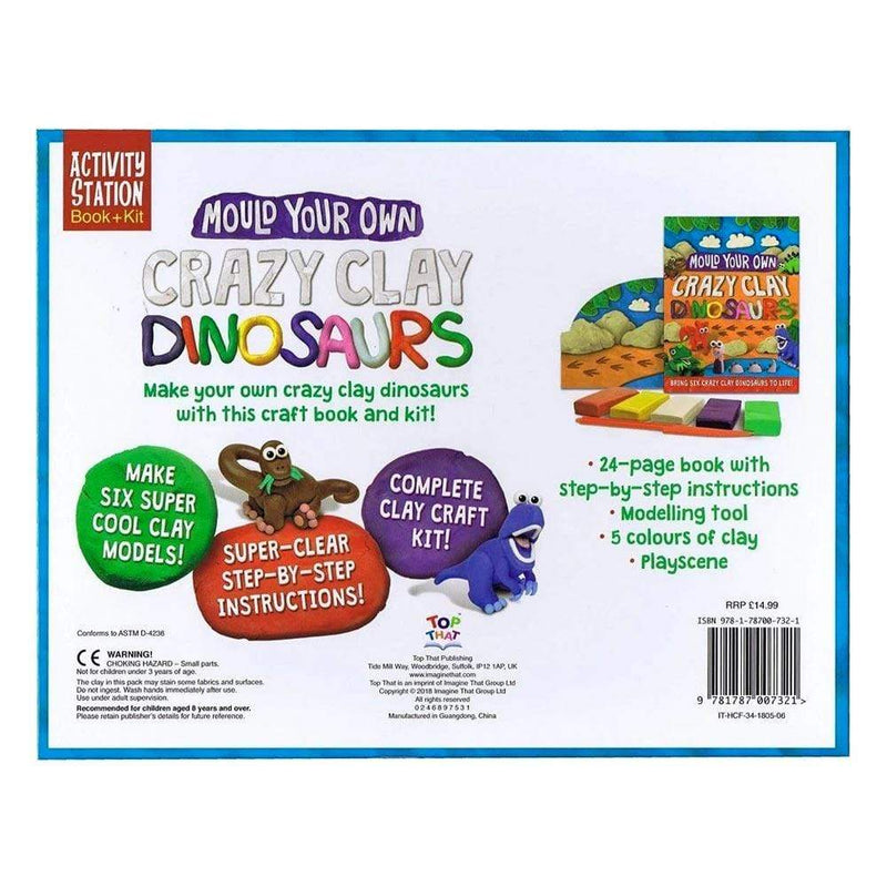 Books Mould Your Own Crazy Clay Dinosaurs - Buy Online