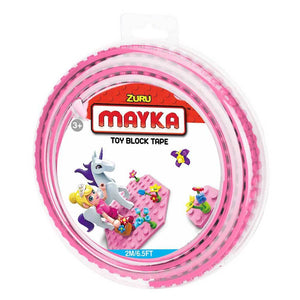 Zuru Mayka Toy Block Tape - 2 Stud Pink