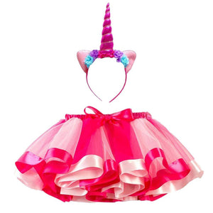 Unicorn Tutu and Headband in Pink - Small