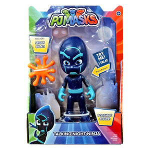 PJ Masks Deluxe Talking Night Ninja Figure with Sticky Splat