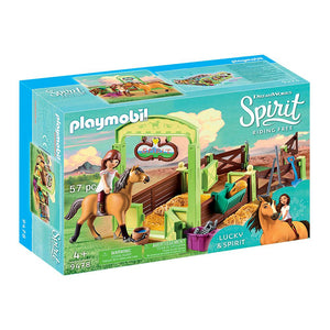 Playmobil Lucky & Spirit with Horse Stall Set
