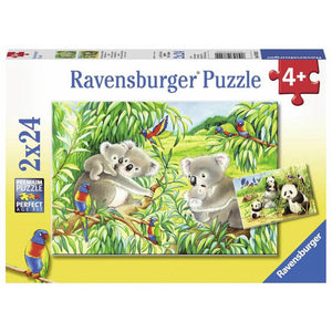 Ravensburger Sweet Koalas and Pandas 2 x 24-Piece Jigsaw Puzzle