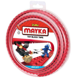 Zuru Mayka Toy Block Tape - 2 Stud Red