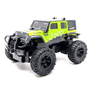 Rusco Racing RC 1:24 Green Jeep Wrangler RC Car - 2.4GHz